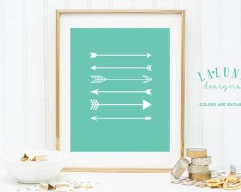 Arrow Print, Arrow Wall Art, Arrows Nursery Art, Arrow Art, Arrow Decor, Nursery Decor