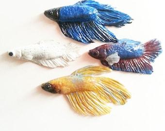 Custom Betta Fish Replica Pendant - handmade jewelry, polymer clay jewelry, betta fish, bettafish, betta, unique jewelry, gift idea