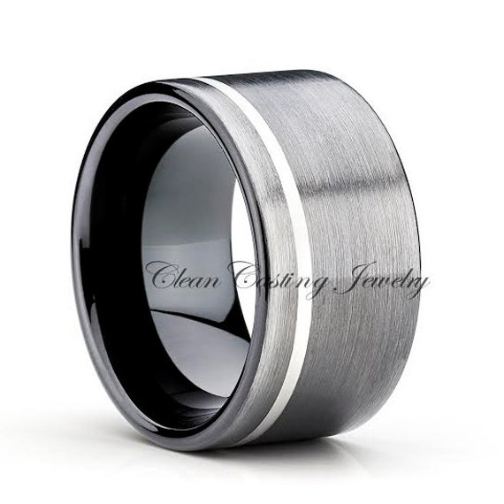 Black Gun Metal Tungsten Wedding by CleanCastingJewelry on Etsy