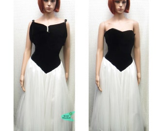 Vintage 1980s strapless party dress - small size