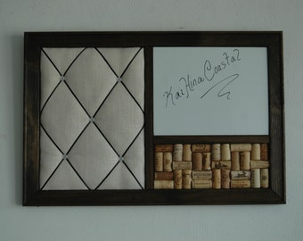Wine Corkboard, Magnetic Whiteboard & French Memo Board  Wall Organizer