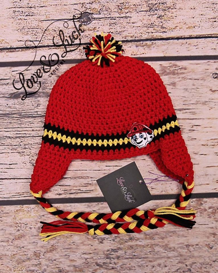 Marshall Paw Patrol firehouse pup Crochet Hat by ...