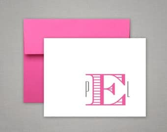 Personalized Stationery | Bridesmaids Gift | Baby Shower Gift | CHEVALIER MONOGRAM | Initial Stationary | Monogrammed Stationery