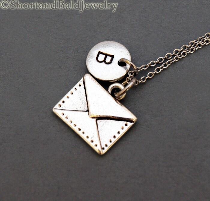 envelope necklace envelope charm letter envelope