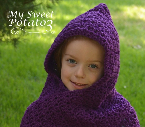 PATTERN Wrap Me Tender Hooded Scarf - Crochet