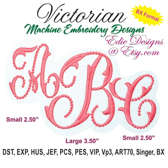 Victorian monograms monogram fonts bx format machine