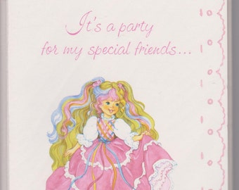 Vintage 80's Lady Lovely Locks Party Invitations!  American Greetings!
