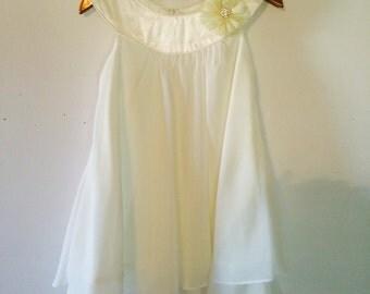 Ivory Chiffon Layered Holiday Dress