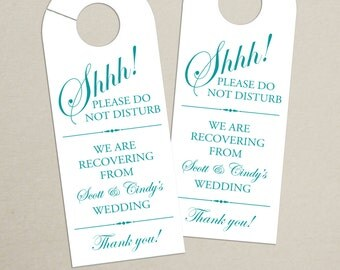 Set of 10 - Door Hanger for Wedding Hotel Welcome Bag - Do Not Disturb