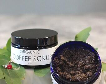 Organic Exfoliating Coffee Scrub to Tone and Detoxify, 4 ounces
