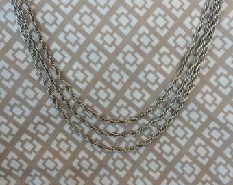 Fine .999 Silver Multi-Strand Necklace (st - 1172)