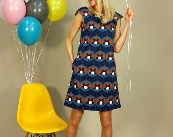 "A line dress ""TIGERLILLY blue"""