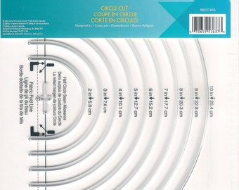 Ruler/ Template - EZ Circle Cut Ruler by EZ Quilter (8823749A) Acrylic Template