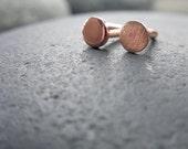 Nose Stud, Copper, 20 gauge, Flat Head, L Bend, Screw Style, Natural, Brushed