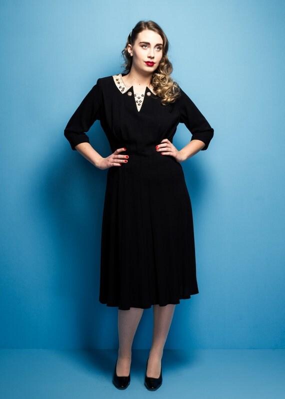 Vintage 1940s/1950s Lovette embellished by KaleidoscopeVin ...