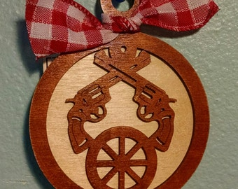 Western Gun Christmas Ornament