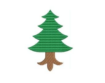 Machine Embroidery Design Instant Download - Heraldic Pine Tree Eradicated 1