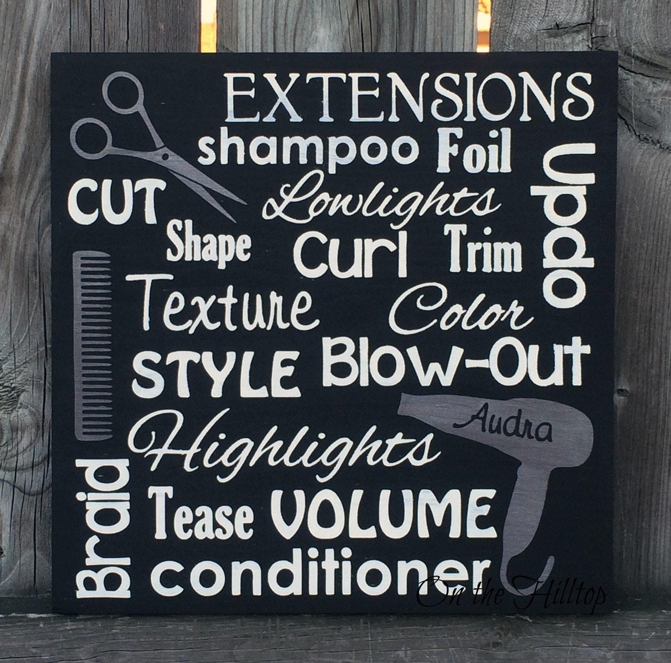 Hair stylist christmas ornaments - Hair Stylist Subway Art Sign Salon Sign Salon Decor Hair Stylist Sign