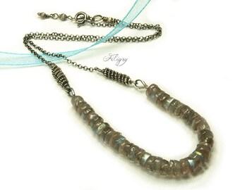 Blue flash Labradorite 935 Silver Necklace