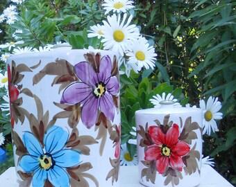 Storage Jars Mid Century Italy Vintage Floral