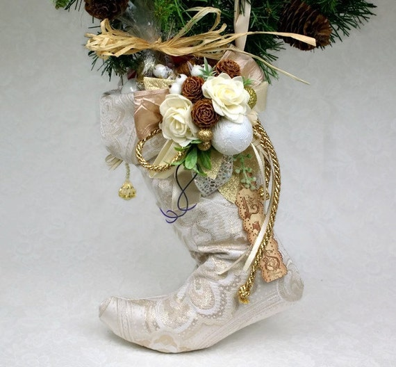 Items Similar To Christmas Stocking Victorian Home Decor