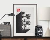 Inspirational Quote, Poster Quote, Art Print, Minimalist Poster, Quote, Illustration, Minimalist Quotation Print - Ralph Waldo Emerson