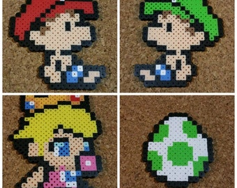 Baby Mario, Luigi and Peach Bead Sprites | Yoshi's Island | Cute