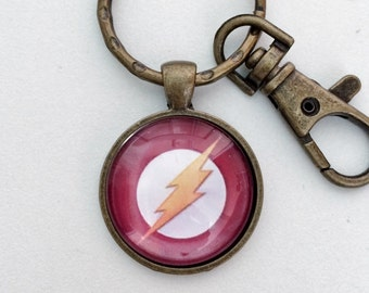 FLASH Lightning Key Chain Bag Charm KC107
