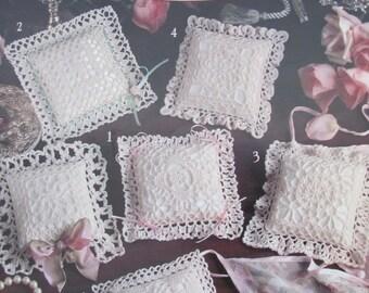 Victorian Sachet Pillows : Items similar to Crochet Victorian Sachet Pillow Patterns on Etsy