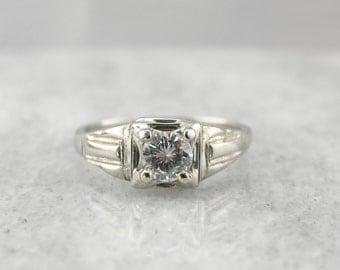 Low Set, Art Deco Diamond Engagement Ring 6ZN3R5-D