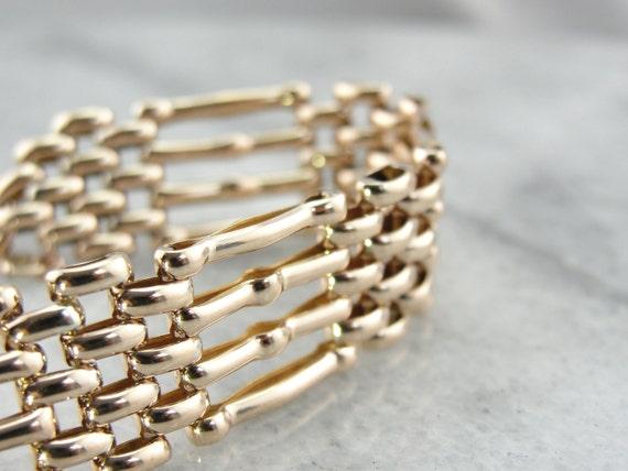 bracelet maillons porte anglais or rose 9 carats de. Black Bedroom Furniture Sets. Home Design Ideas