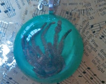 Real Tarantula spider resin necklace