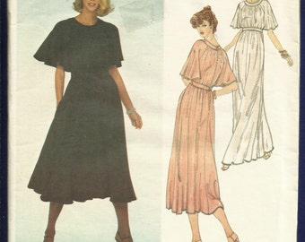 Vintage 1970's Vogue 2043 Jean Muir Designer Modern Goddess Dress Full & Flowing and So Romantic Size 10 UNCUT