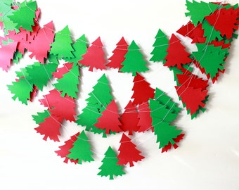 Christmas Garland, Christmas Decor, Christmas Tree, Holiday Decor, Christmas Wedding, Mantle Decor, Christmas Banner, Christmas Photo Prop
