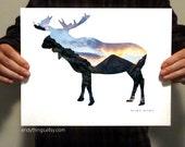 Moose Habitat Print