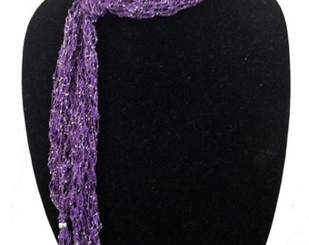 Ladder Yarn Skinny Scarf by Peace of the Lily #1087
