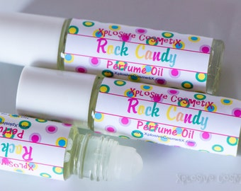 Rock Candy Perfume Oil - Roll On Perfume, Fragrance, Fruity Perfume, Sweet Candy Scent