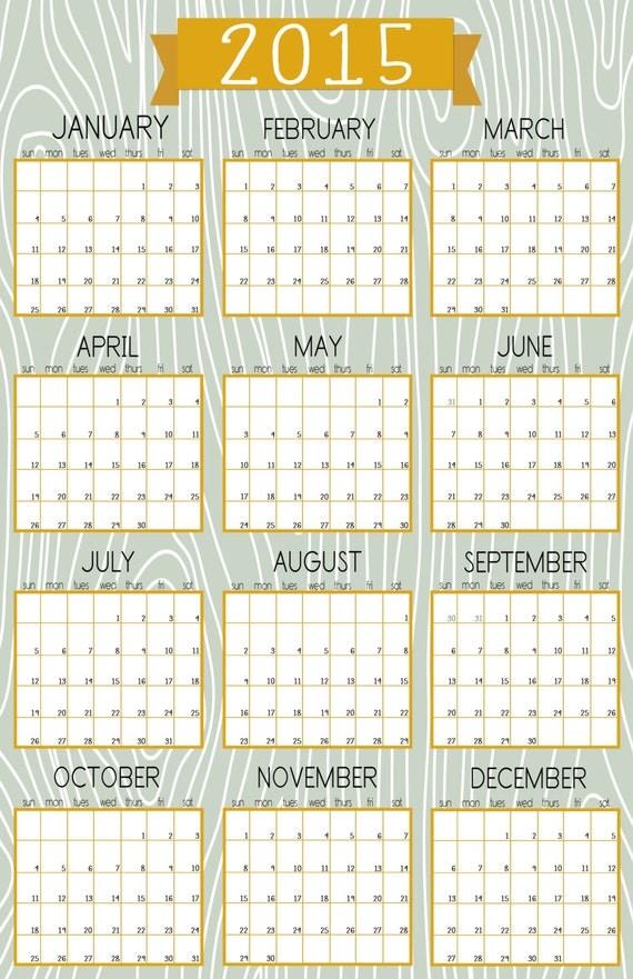 2015 imprim calendrier mural 11 x 17 fond de par for Calendrier mural 2015