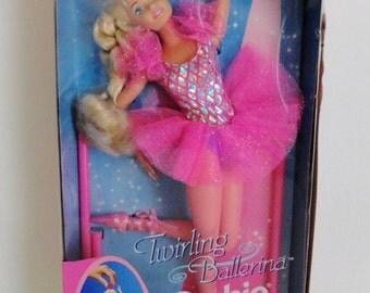Vintage 1995 Twirling Ballerina Barbie|Barbie Pink Ballerina Twirling Doll