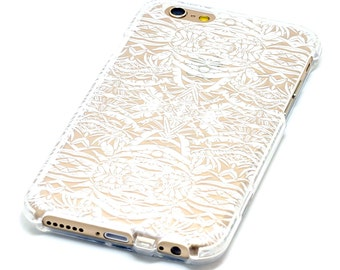 Islander Tiki Style Pattern Transparent Clear Phone Case iPhone 6, 7, SE, 6 Plus, 7 Plus, 6S, 5, 5C, 5S, Galaxy S6, S7, Note 5, Note 7