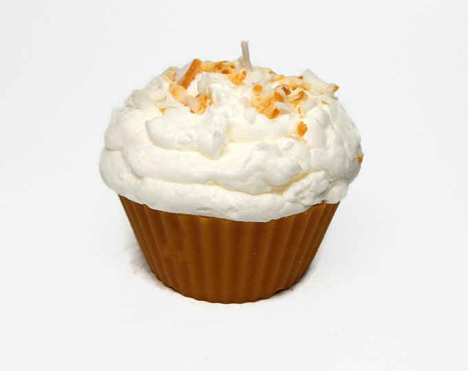 Jumbo Coconut Cream  Pie Cupcake Candle