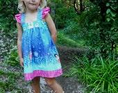 Flutter Sleeve Dress, Reverse Knot Dress, Sleeveless Tank Dress, Wee Wander, Lightning Bugs Fireflies--Baby Toddler 6 months to Girls 14