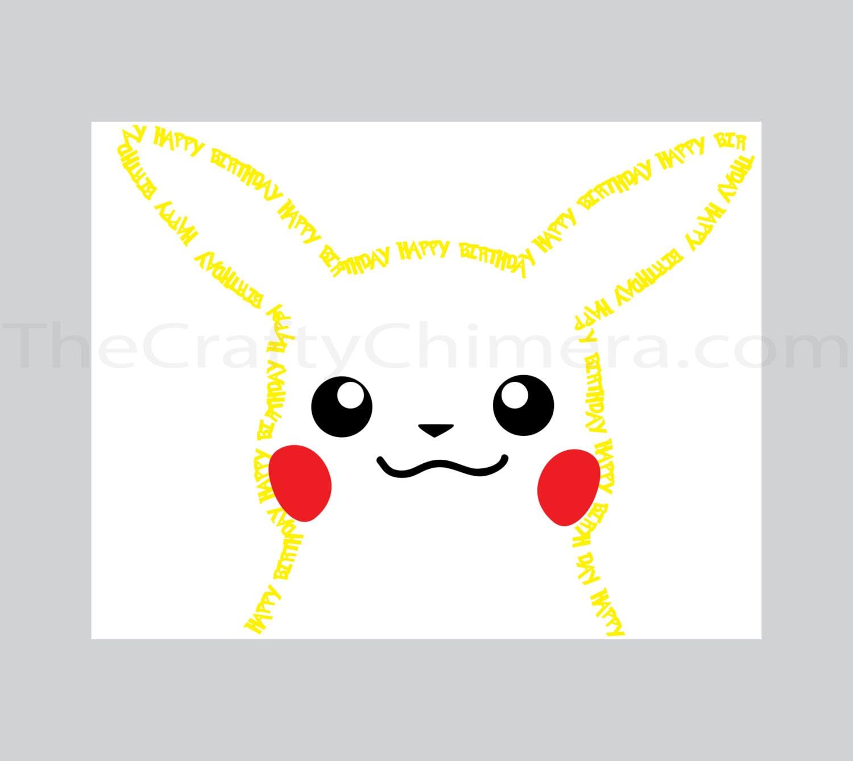 Birthday Cards Pokemon: Pikachu Printable Birthday Card Pokemon