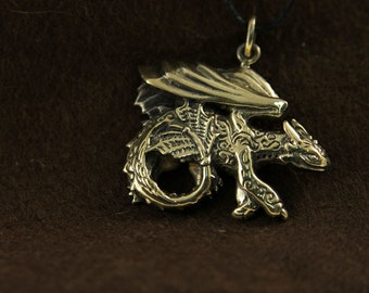 Toothless httyd bronze pendant necklace How to train your dragon