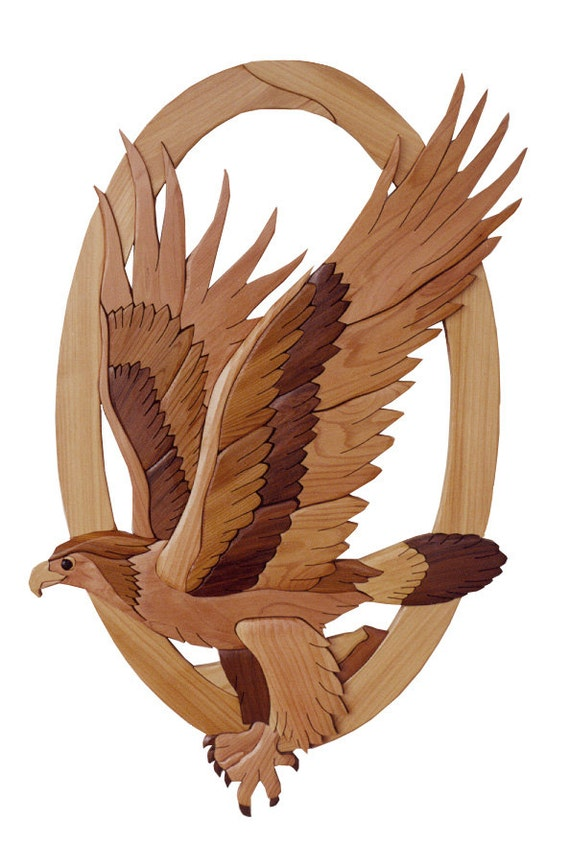 Intarsia Woodworking Pattern Eagle From