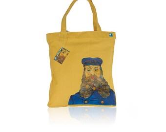 Van Gogh 'Portrait of Joseph Roulin' Handmade Canvas Women Tote Bag, Women Tote, Canvas Tote, Tote Bag, Canvas Bag, Van Gogh Tote Bag