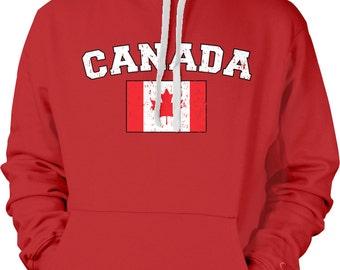 Canada Country Flag Sweatshirt, Canadian Pride, Canada Flag, Canadian Flag, International Country Flag Hoodies CAN_02_2tonehood