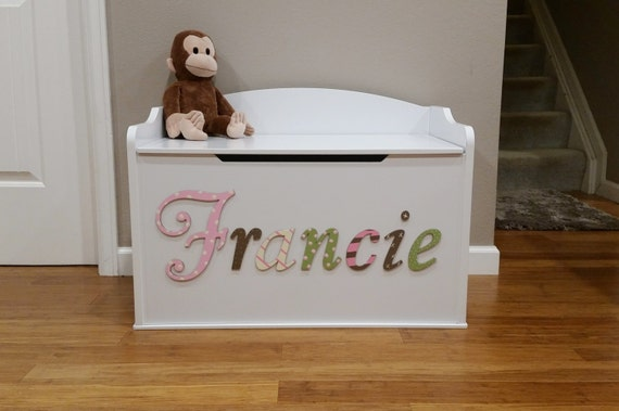 items similar to custom personalized toy chest wood toy. Black Bedroom Furniture Sets. Home Design Ideas