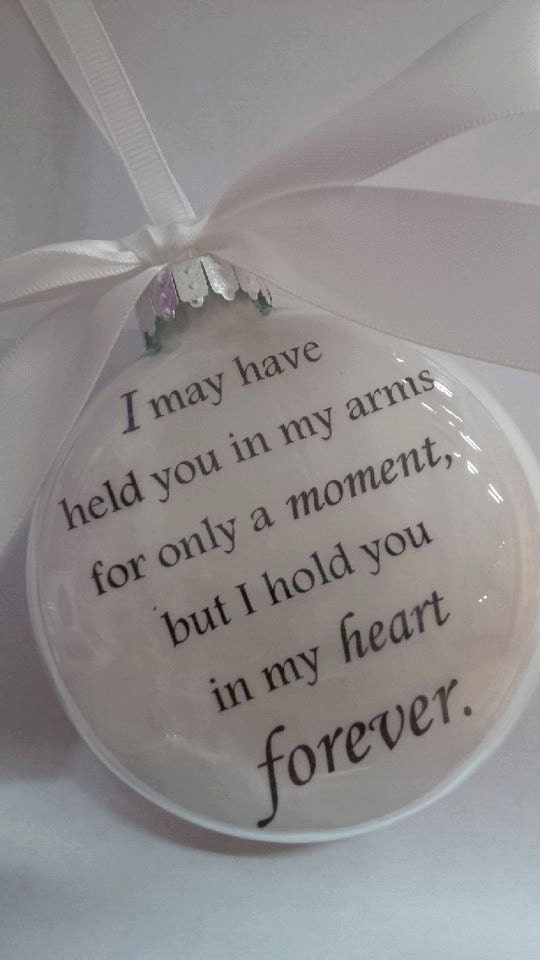 In Memory Miscarriage Child Loss Christmas Ornament Glass Ball