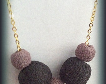 Lava stones necklace